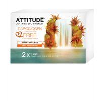 Attitude - Sapun solid pentru fata si corp hidratare zilnica 2 buc.