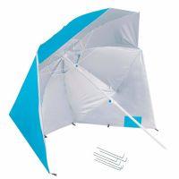 Umbrela de plaja XXL cu pereti laterali Springos, include sistem de fixare