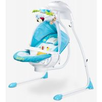 Caretero - Leagan electric cu scaun rotativ Bugies Blue