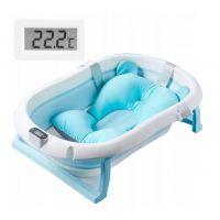 Cadita pliabila cu termometru si suport anatomic Primabobo Genua Premium blue