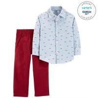 Set 2 piese camasa si pantaloni 100% bumbac Carters
