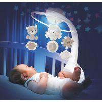 Carusel muzical cu proiector si lampa de veghe Infantino Bej