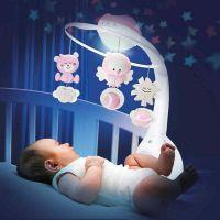 Carusel muzical cu proiector si lampa de veghe Infantino Roz resigilat