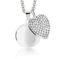 Cadou gravide colier Bola Crystal Heart Mamijux Harmony Ball