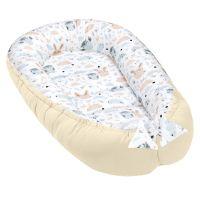 Cosulet bebelus pentru dormit Kidizi Baby Nest Cocoon 90x50 cm Forest Friends