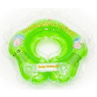 Babyswimmer - Colac de gat pentru bebelusi 0-24 luni cu zornaitoare Verde