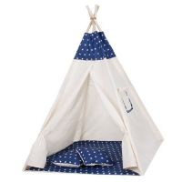 Cort copii stil indian Teepee Springos Dark Blue Stars XXL