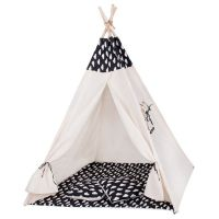 Cort copii stil indian Teepee Springos White Clouds XXL