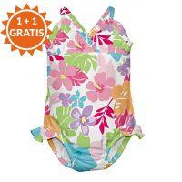 Costum de baie fetita cu scutec inot integrat IPlay Sweet 12 luni SPF50+