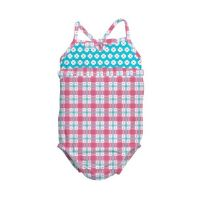 Costum de baie fetita cu scutec inot integrat IPlay Pink 6 luni SPF50+