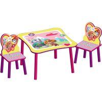 Delta Children - Set masuta si 2 scaunele Paw Patrol Girl