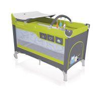Baby Design Patut pliabil cu 2 nivele Dream verde resigilat
