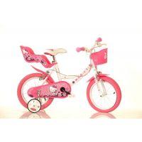 Dino Bykes - Bicicleta cu roti ajutatoare Hello Kitty 14 inch