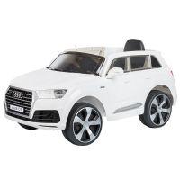 Masinuta electrica Chipolino SUV Audi Q7 white cu roti EVA