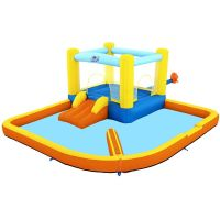 Centru de joaca gonflabil cu apa  si trambulina Bounce Bestway 53381,365x340x152cm