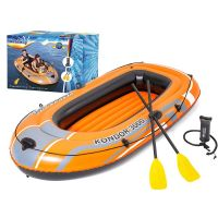 Barca gonflabila pentru 3 persoane Bestway Kondor 3000, set cu vasle + pompa,