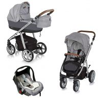Espiro Next - Carucior multifunctional 3 in 1 Manhattan - Alaska Grey