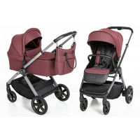 Espiro Only carucior multifunctional 2 in 1 Maroon Holiday