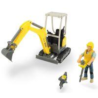 Set excavator Playlife cu figurina si accesorii Dickie Toys