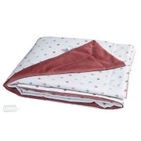 BabyMatex - Paturica bebe dubla 100x75 cm Soul Red Stars