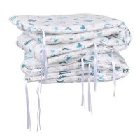 Babyneeds - Set aparatori pat,120x60 cm, Baloane, Albastru