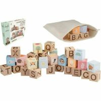 Cuburi din lemn multifunctionale Familia Wildies 30 piese Joueco