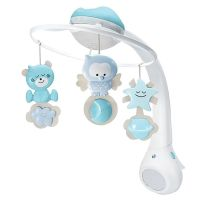 Carusel muzical cu proiector si lampa de veghe Infantino Albastru