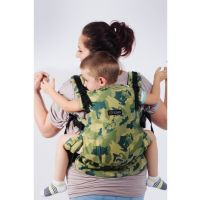 Isara - Marsupiu ergonomic bumbac organic The One wolf family