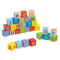 Cuburi din lemn Alfabetul 30 piese Joueco