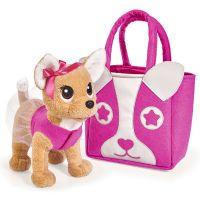 Jucarie de plus Simba Catel Chi Chi Love Puppy cu geanta