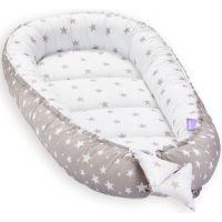 Cosulet bebelus pentru dormit Jukki Baby Nest Cocoon XL 90x50 cm Grey stars