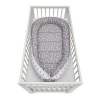 Cosulet bebelus pentru dormit Jukki Baby Nest Cocoon  XXL 120x65 cm Grey stars