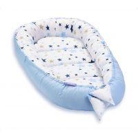 Cosulet bebelus pentru dormit Jukki Baby Nest Cocoon XL 90x50 cm Milky way