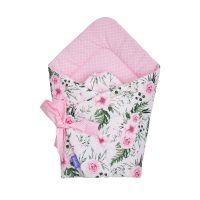 Paturica infasat tip port bebe Jukki In garden pink