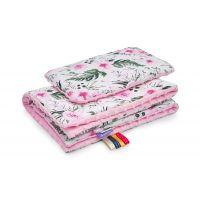 Set perna bebelus si paturica 100x75 cm Jukki In garden pink