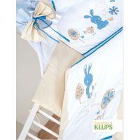 Klups - Lenjerie 2 piese Little Bunny bej-blue
