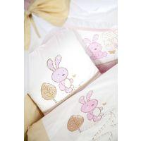 Klups - Lenjerie 3 piese Little Bunny bej-pink