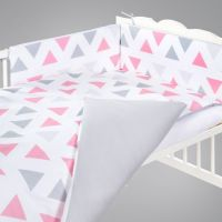 Klups - Lenjerie 5 piese Triunghiuri pink/grey