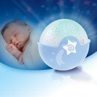 Lampa de veghe muzicala cu proiector si senzor de sunet Infantino Albastru