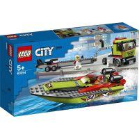 Lego City Transportor de barca de curse L60254