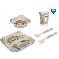 Set alimentatie din fibra de bambus 5 piese Canpol Baby Lemur