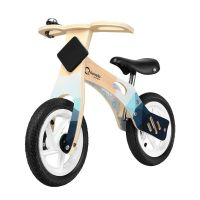 Bicicleta din lemn fara pedale cu roti gonflabile Lionelo Willy Indygo