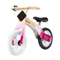 Lionelo - Bicicleta din lemn fara pedale Willy Bubblegum
