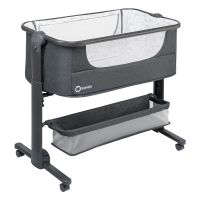 Lionelo - Patut pliabil 3 in 1 co-sleeper Timon Dark Grey