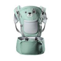 Marsupiu bebe cu sezut detasabil Primabobo Funny Animals blue, 6-24 kg