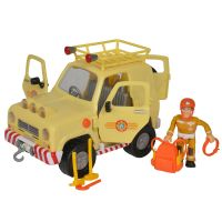 Masina Simba Fireman Sam, Sam Mountain 4x4 cu 1 figurina si accesorii