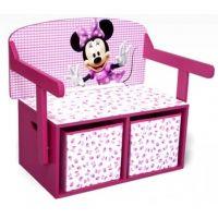 Delta Children - Mobilier 2 in 1 pentru depozitare jucarii Disney Minnie Mouse