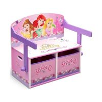 Delta Children - Mobilier 2 in 1 pentru depozitare jucarii Disney Princess