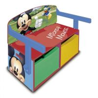 Delta Children Mobilier 2 in 1 pentru depozitare jucarii Mickey Mouse