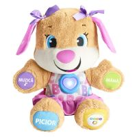 Catelusa vorbitoare in limba romana Fisher Price by Mattel Laugh and Learn Sis